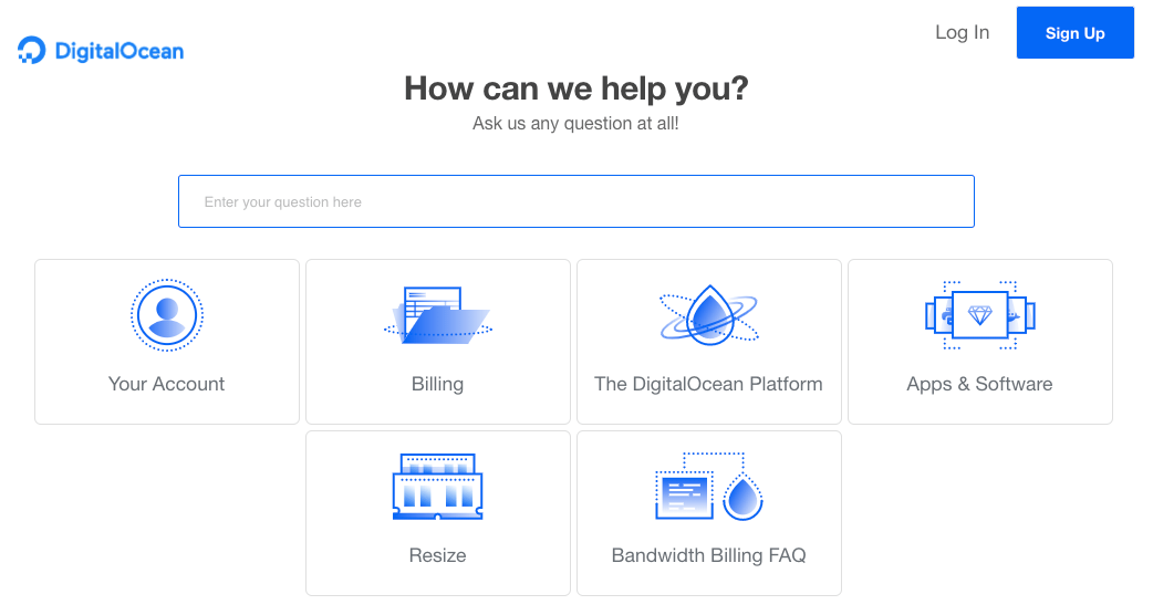 DigitalOcean Cloud Support Ticket