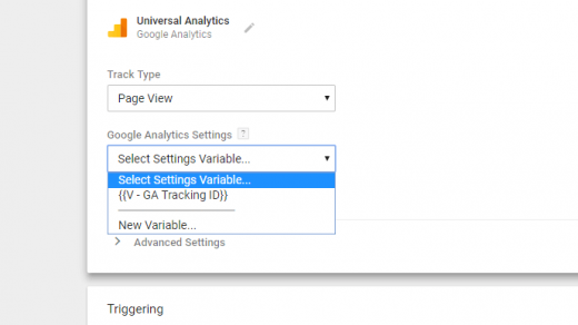 Setup a Google Analytics Tracking ID variable in GTM 3