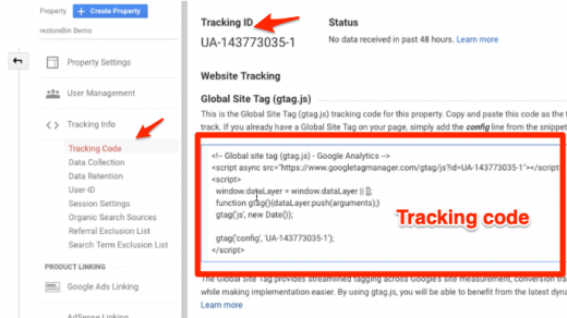 Insert Google Analytics Tracking Code in WordPress without Plugin 3