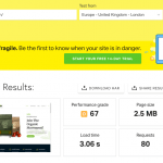 Pingdom Tools Results for WooCommerce Demo Site