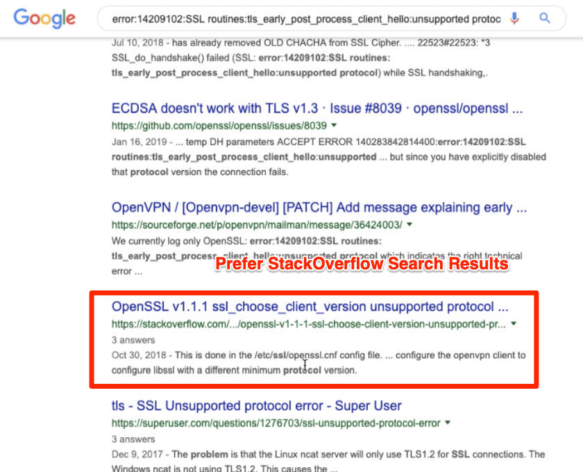 StackOverflow Search Result for Cloud Server issue