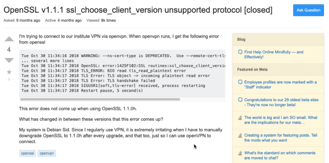 Troubleshoot Cloud Server Issue using StackOverflow website