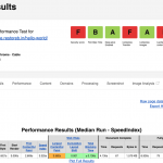 WebPageTest Performance Result for SSD storage on GCP