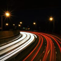 speed way with lights