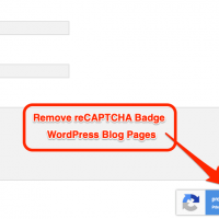 How to hide or remove reCAPTCHA badge (V3) from WordPress blog? 2