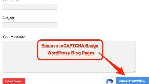 How to hide or remove reCAPTCHA badge (V3) from WP? 1