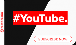 restoreBin Banner_ #YouTube Subscribe